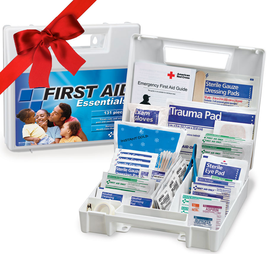 Our most popular gift item! All Purpose First Aid Kit, 131 Pieces - Large - FAO-132