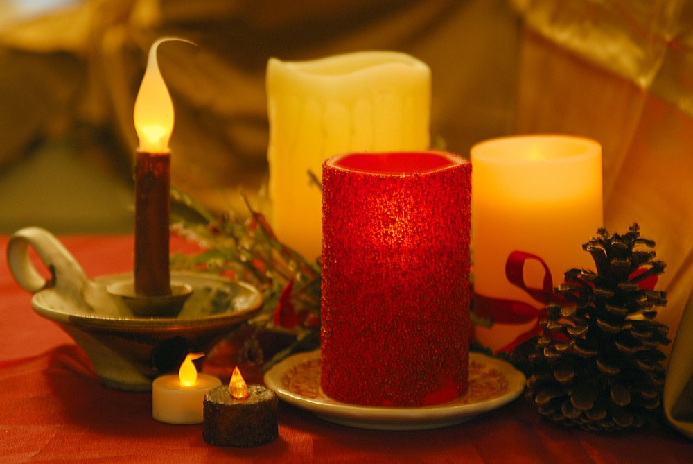 Four different types of flameless candles